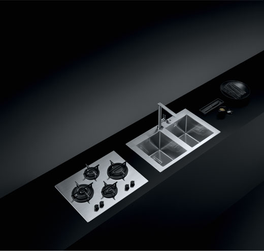 Mood hob and sink