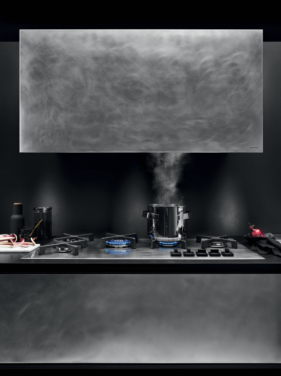 Unique hob and cooker hood