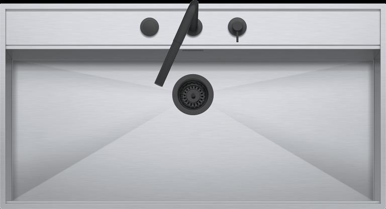 Lavello Flexi Combi incasso e filo da 105×56  1 vasca con abbassamento + rubinetto