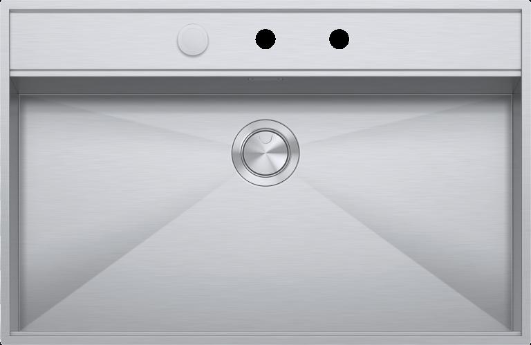 Lavello Flexi incasso e filo da 86×56  1 vasca con abbassamento