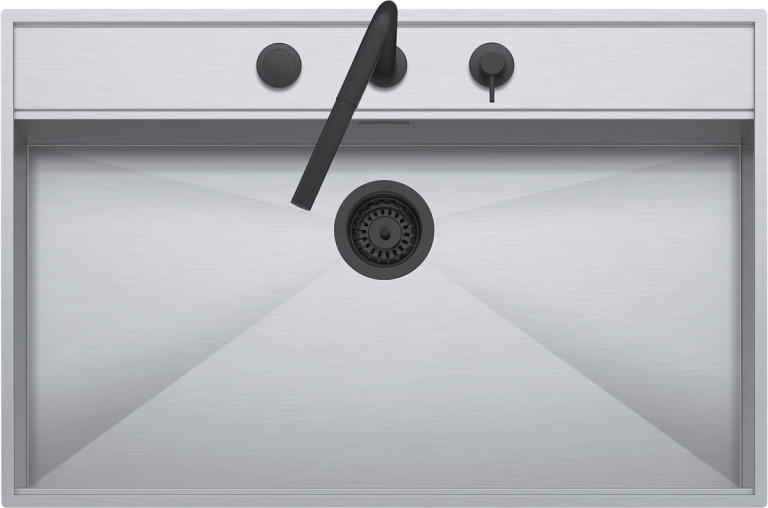 Lavello Flexi Combi incasso e filo da 86×56  1 vasca con abbassamento + rubinetto