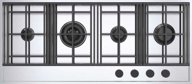 Piano cottura Lab Evolution incasso e filo da 120 3 gas + doppia corona Flat Eco-Design