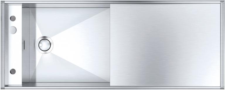 Fregadero Mizu de 130×52 1 cubeta con rebaje + escurridor