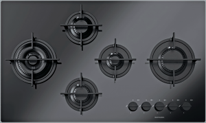 Kasai Mood 90 cm hob 4 gas burners + Flat Eco-Design double ring