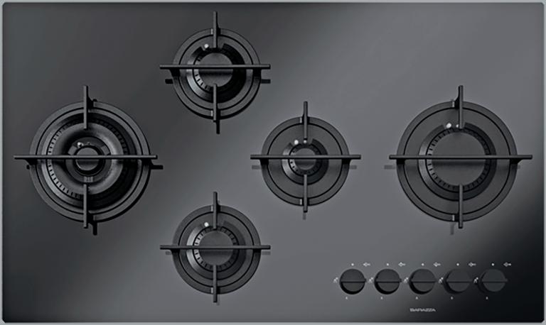 Placa de cocción Kasai Mood de 90 4 fuegos de gas + doble corona Flat Eco-Design